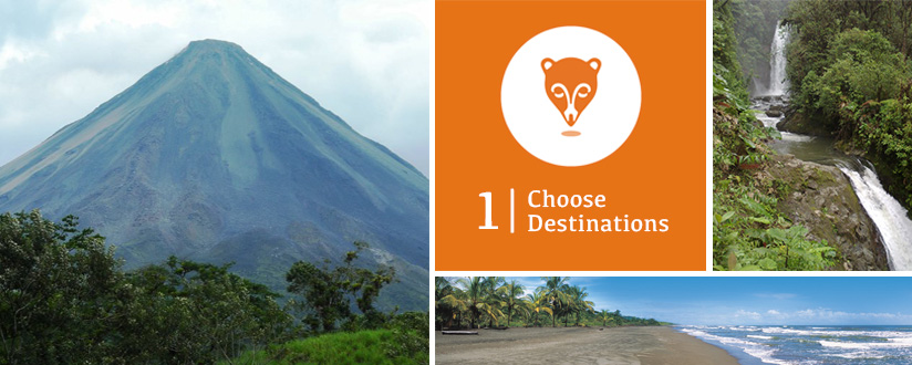 Choose your Costa Rica Destinations